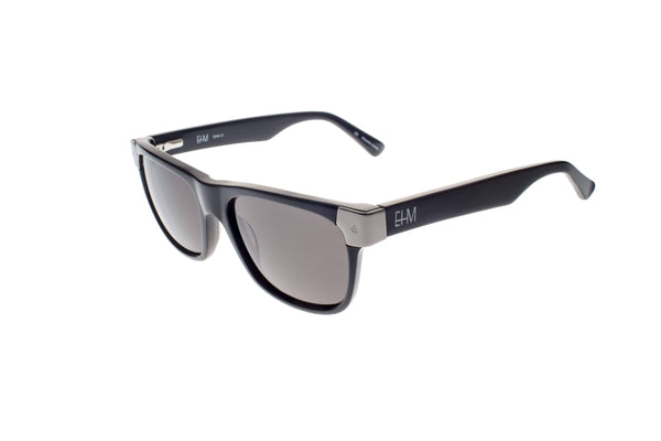 Black With Gun Silver Metal Wayfarers - dreadavinci