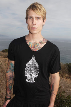Men's Yoga Tee Teja  Buddha - dreadavinci