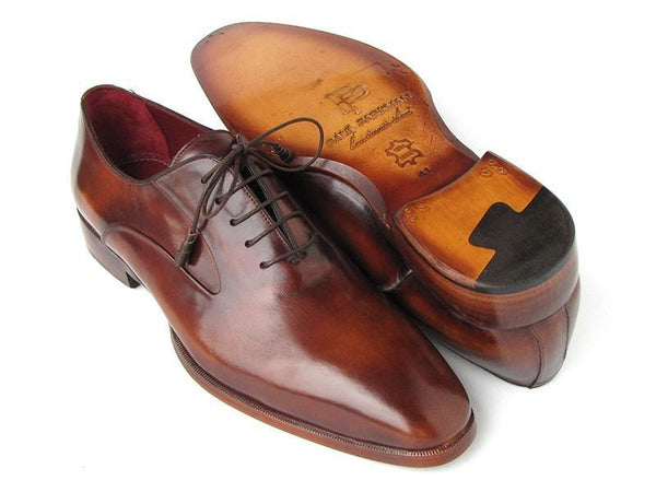 Paul Parkman Plain Toe Brown Calfskin Oxfords (ID#019-BRW) - dreadavinci