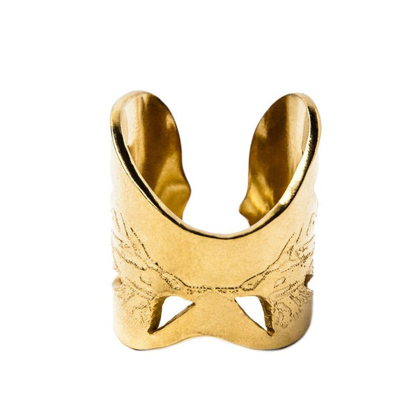 Gold Angel Wings Ring