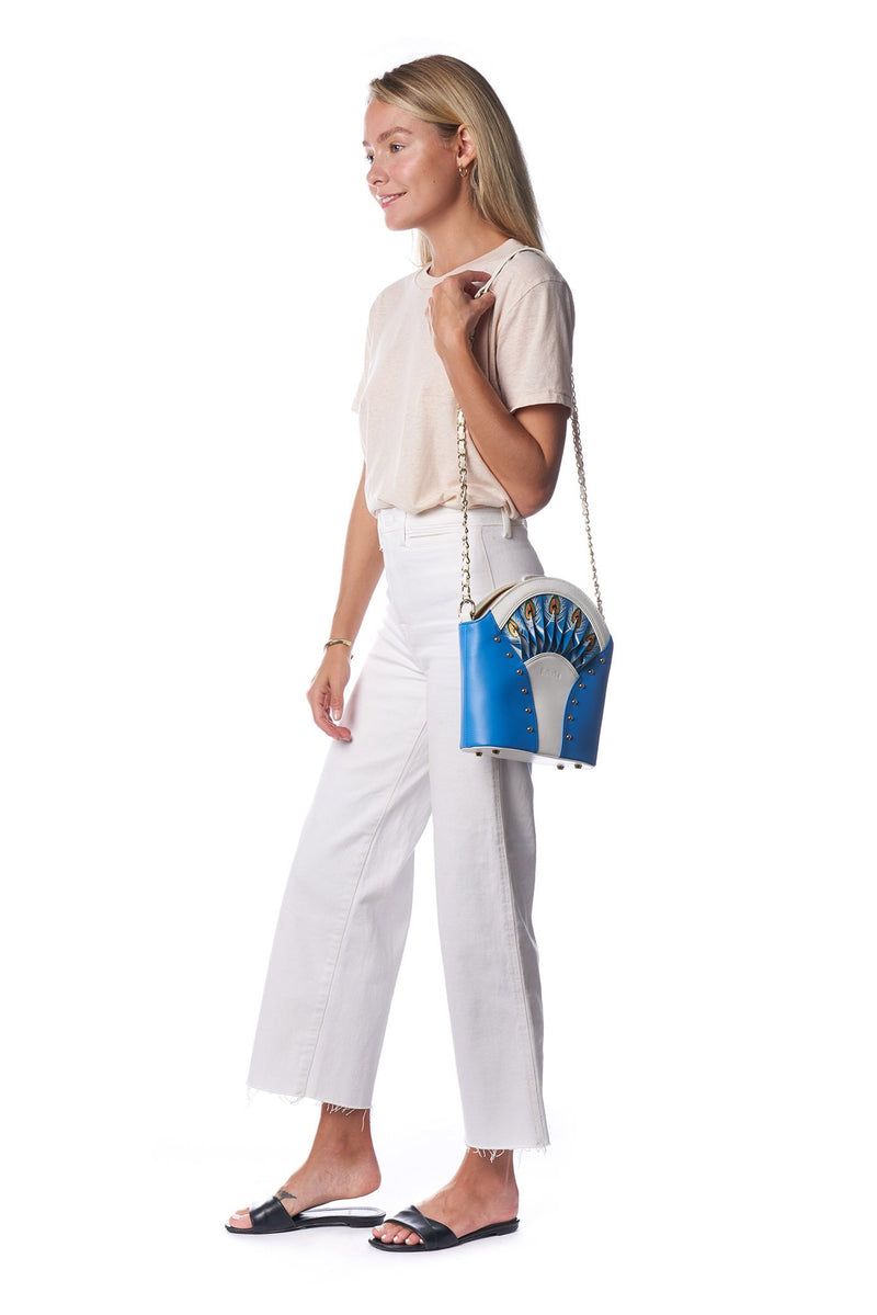 Feather Blue Shoulder Bag - dreadavinci