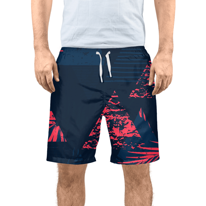 Men's FYC Victory II Navy Beach Shorts UPF 40+ W/Lining - dreadavinci