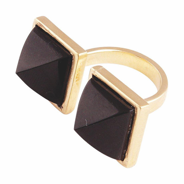 Tiger's Eye Quartz Double Pyramid Ring - dreadavinci
