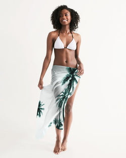 Women's Find Your Coast Lightweight & Elegant Palm Life Swim Cover Up - dreadavinci
