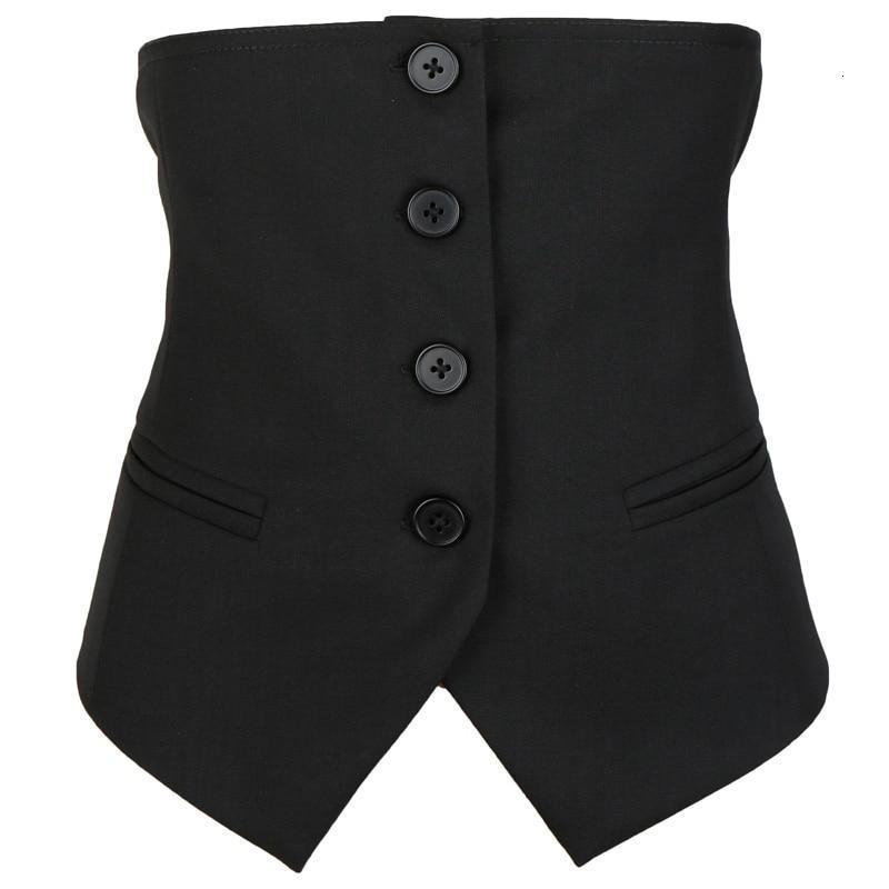 Akino Button Waist Vest - dreadavinci