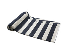 Gray Nautical Stripes Beach Towel - dreadavinci