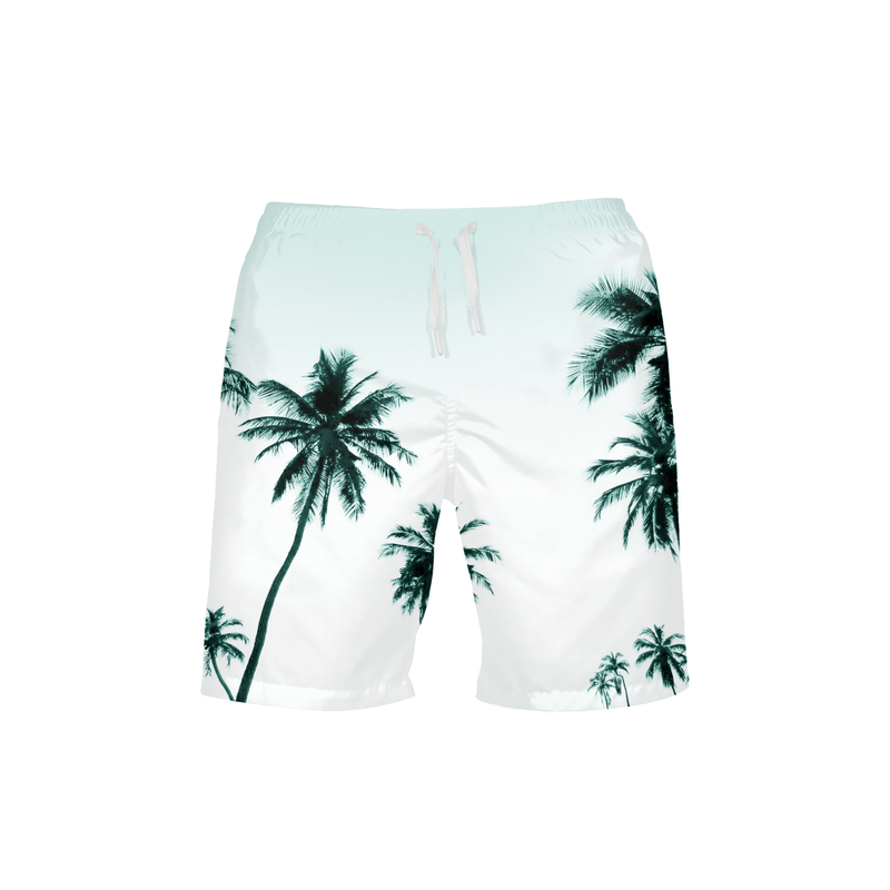 Men's FYC Palm Paradise Beach Shorts UPF 40+ W/Lining - dreadavinci