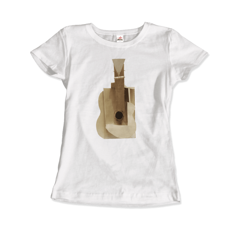 Pablo Picasso Guitar Sculpture 1912 Artwork T-Shirt - dreadavinci