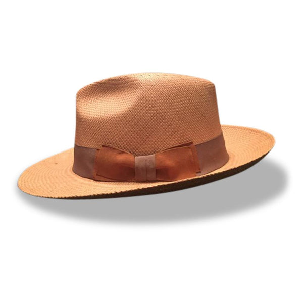 Fronay Co Genuine Natural Brown Panama Hat - dreadavinci