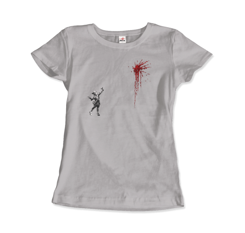 Banksy Valentines Day Mural Reproduction T-Shirt - dreadavinci