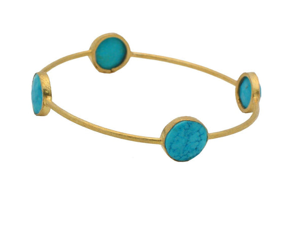 Golden Turquoise Bangle - dreadavinci