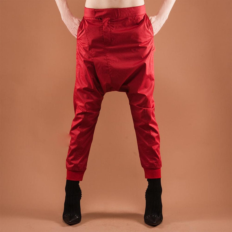 Shinobi Trousers Red by GUZUNDSTRAUS - dreadavinci