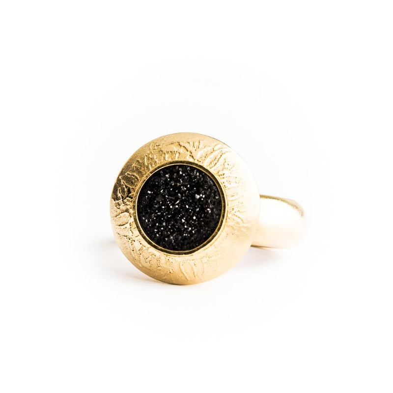 Large Gold Dome Ring - dreadavinci