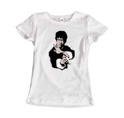 Bruce Lee Doing His Famous Kung Fu Pose T-Shirt - dreadavinci