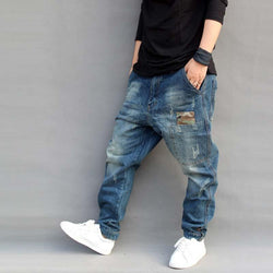 Joggers Harem Denim Pants - dreadavinci