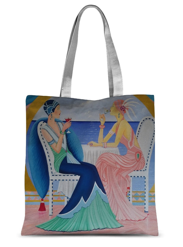 Art Deco Cruising Womens Tote Bag - dreadavinci