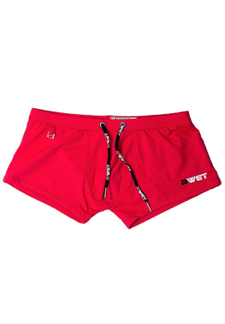 "Quick Dry UV Protection Perfect Fit Red Beach Trunks ""Brighton"" - dreadavinci"