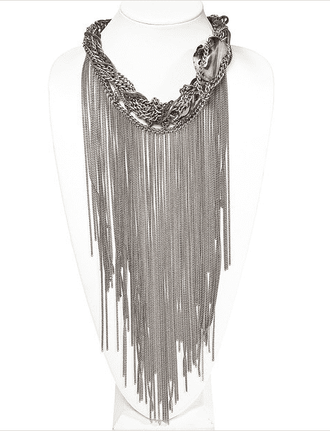 Fringes Statement Necklace With Agate Stone. - dreadavinci