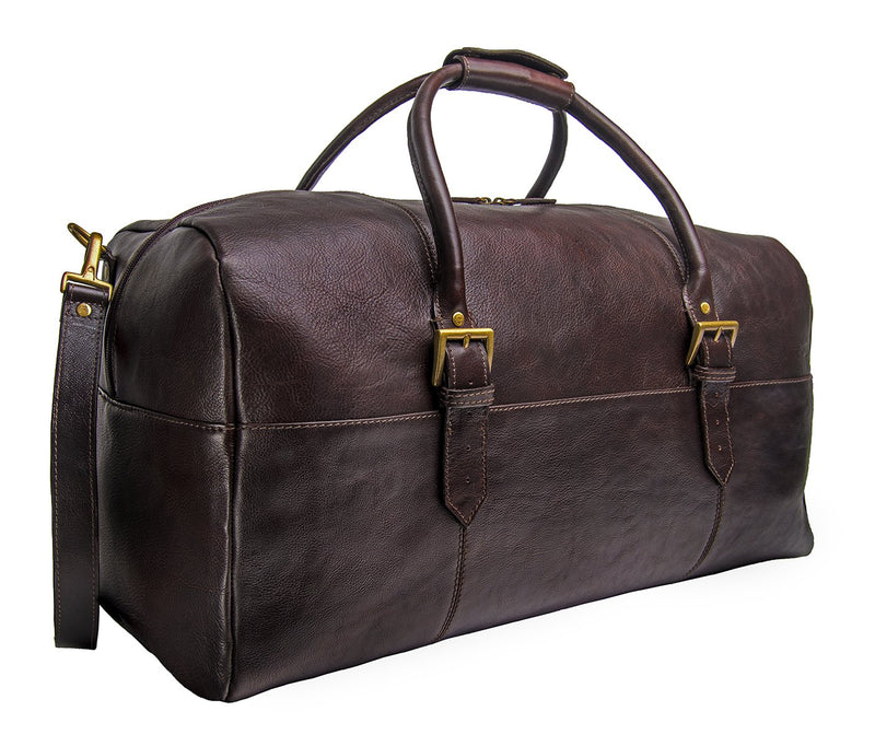 Hidesign Charles Leather Cabin Travel Duffle Weekend Bag - dreadavinci