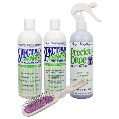 Drop Coat Bag Deal ... Buy Spectrum 10 Shampoo + Conditioner + Precious Drops RTU and get A924 Breezy Brush FREE!