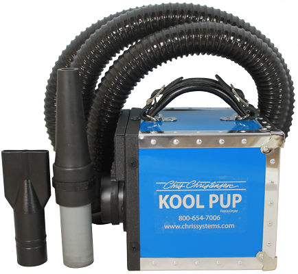 "Kool ""Pup"" Dryer - Cool Air Dryer ... available in 4 colours"