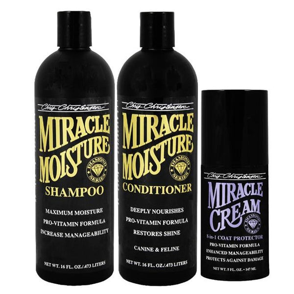 Diamond Series - Miracle Moisture Bag Deal ... Buy Miracle Moisture 16 oz Shampoo and 16 oz Conditioner ... and Get 5 oz Miracle Cream FREE!