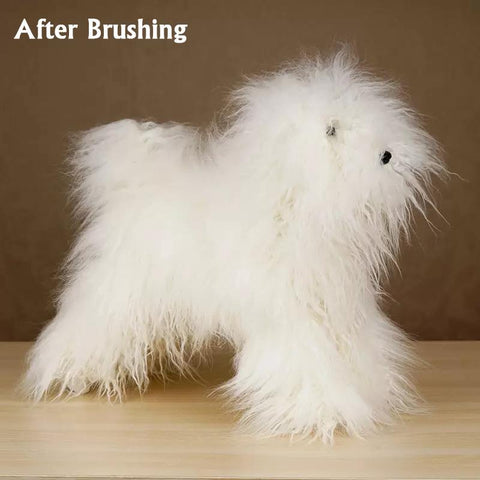 "Toy Poodle - Full Body Wig - Beginner ""White"""
