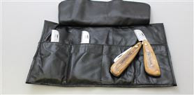 Stripping Knife Set ... Includes all 4 Folding Knives and a Free Leather Roll ...