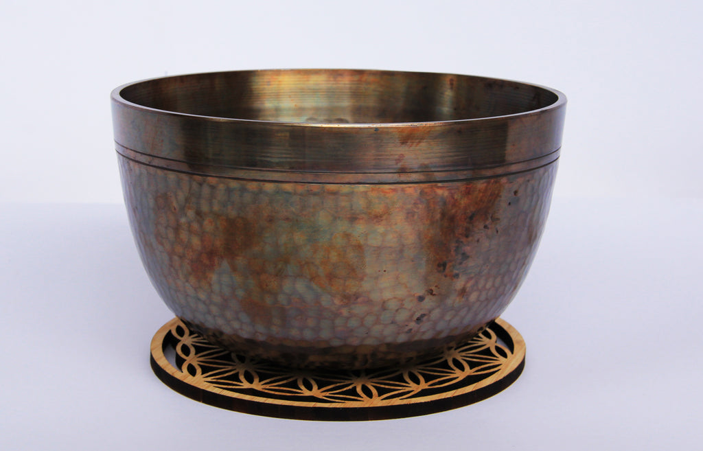 Deep Singbowl - Dotted Copper Plain - For Meditation