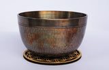 Deep Singbowl - Dotted Copper Plain - For Meditation - Singbowls