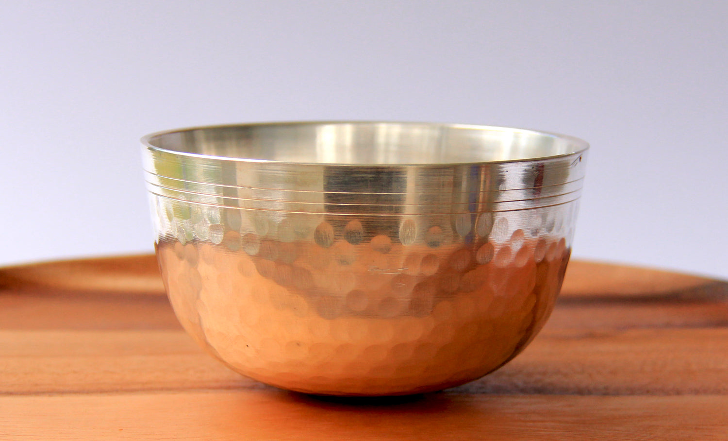 Deep Singbowl - Dotted Silver Plain - For Meditation - Singbowls