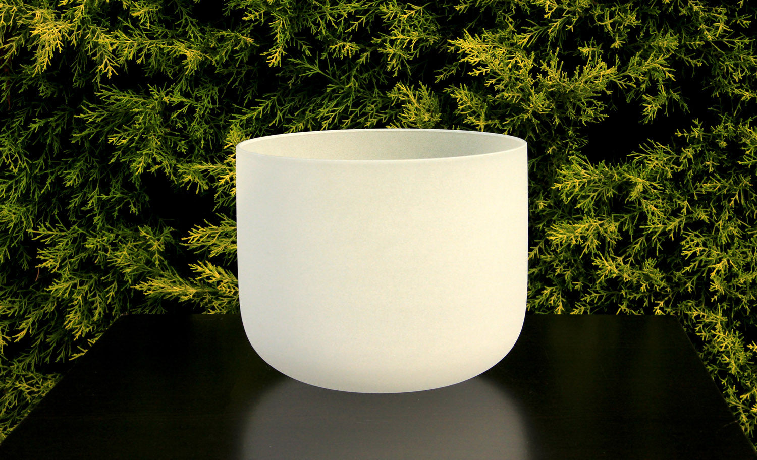 "Frosted Quartz Crystal Bowl 12"" - 24"""