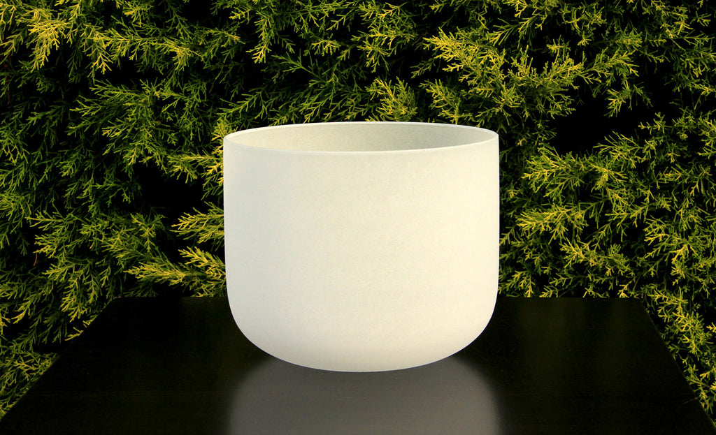 Frosted White Quartz Crystal Singbowl - 12 Inch To 28 Inch - For Meditation and Healing