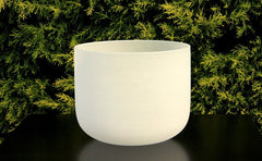 Frosted Quartz Crystal Singbowl - 7 Inches - For Space Clearing - Singbowls
