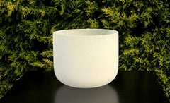 Frosted White Quartz Crystal Singbowl - 12 Inch To 28 Inch - For Meditation and Healing - Singbowls