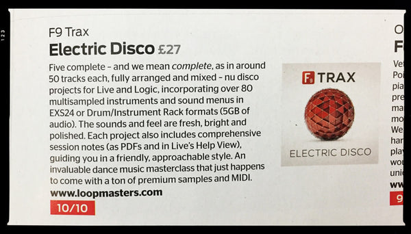 F9 Electric disco review in Computer music