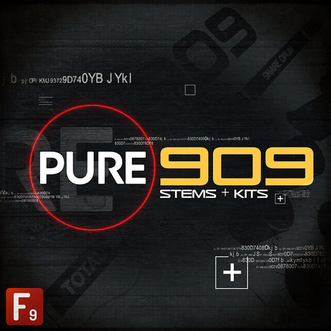 F9 PURE 909 Stems & Kits - F9 Audio Royalty Free loops & Wav Samples