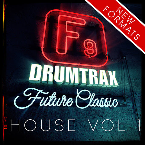 F9  Drumtrax Future Classic Vol1 Drum and FX Stems - House 118-122 BPM - F9 Audio Royalty Free loops & Wav Samples