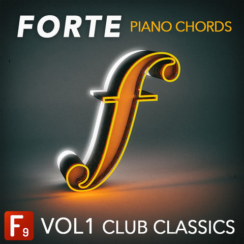 Forte Piano Chords Vol1 Club Classics F9 Audio Royalty Free