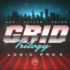 F9 Grid Trilogy 80s Future Retro - For Logic Pro X - F9 Audio Royalty Free loops & Wav Samples