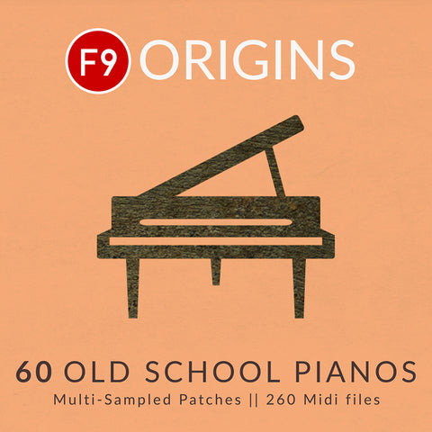 F9 Origins - 60 Old School Pianos - F9 Audio Royalty Free loops & Wav Samples