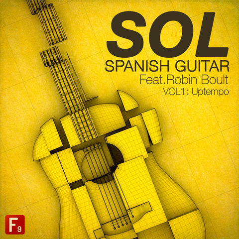 SOL Spanish Guitar Ft. Robin Boult  - Volume 1 Uptempo - F9 Audio Royalty Free loops & Wav Samples
