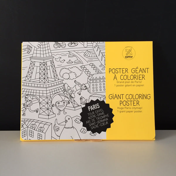 Giant Colouring Poster - Paris