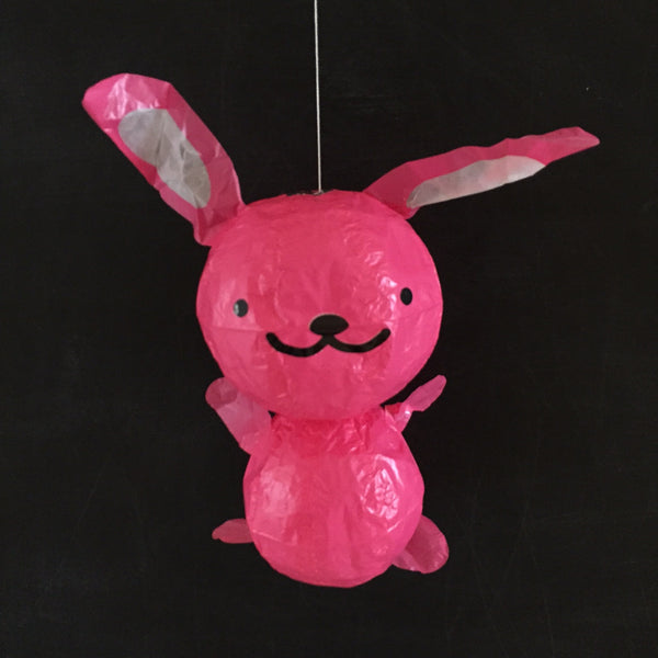 Japanese Paper Balloon - Pink Bunny