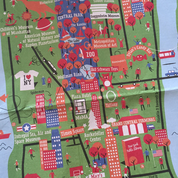 Crumpled City Junior Map - New York