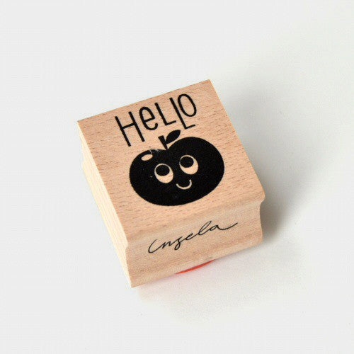 Hello - Wooden Stamp by Ingela P Arrhenius