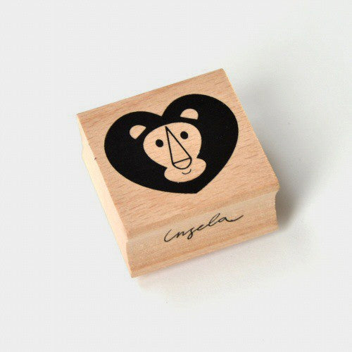 Lion Wooden Stamp by Ingela P Arrhenius