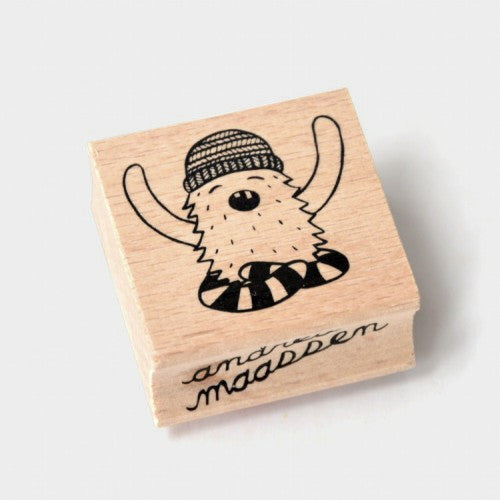 Monster Wooden Stamp by Andrea Maassen