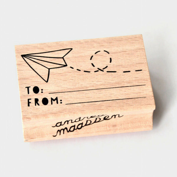 To...From...Wooden Stamp by Andrea Maassen