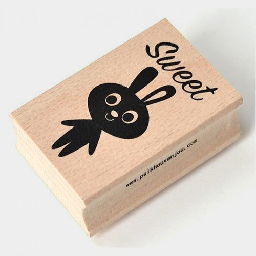 Sweet Rabbit Wooden Stamp by Ingela P Arrhenius